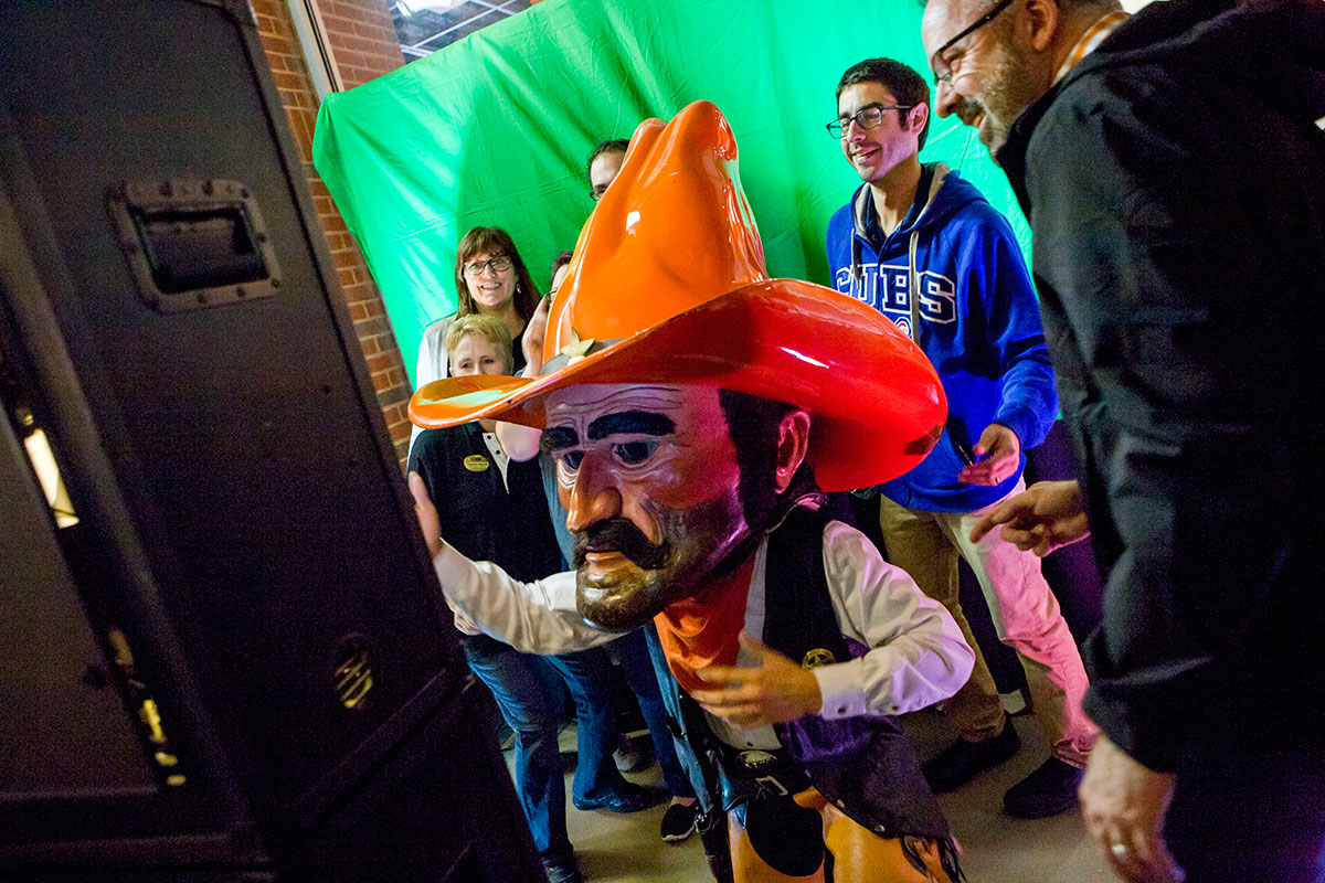 pistol pete and a photo booth
